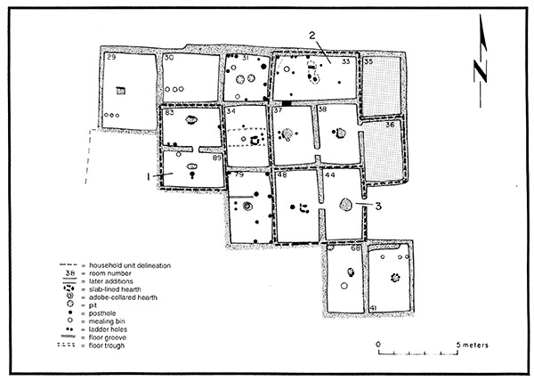 Diagram of East Roomblock